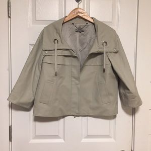 Anne Klein gray lined swing jacket